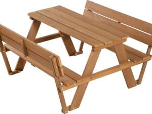 "roba® Kindersitzgruppe ""Picknick for 4 Outdoor Deluxe, Teakholz"", (Set, 1-tlg), mit Lehne"